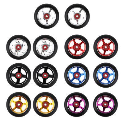 Roues de trottinette avec roulements, 100mm/3.9 , 7 couleurs, 2 pièces, accessoires de remplacement