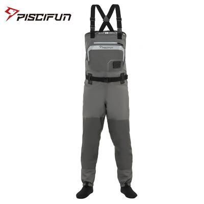 Piscifun — Combinaison étanche en polyester 3 couches pour hommes et femme, pantalon respirant