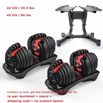Gym 52.5 lb haltères réglables 4...