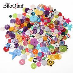 Boutons en plastique forme mixte pour bricolage, 20/100 pièces, bricolage, Scrapbooking, dessins