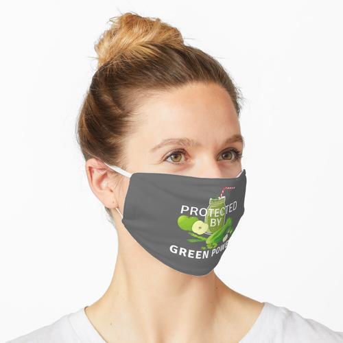 Geschützt durch Green Power - Grau Maske