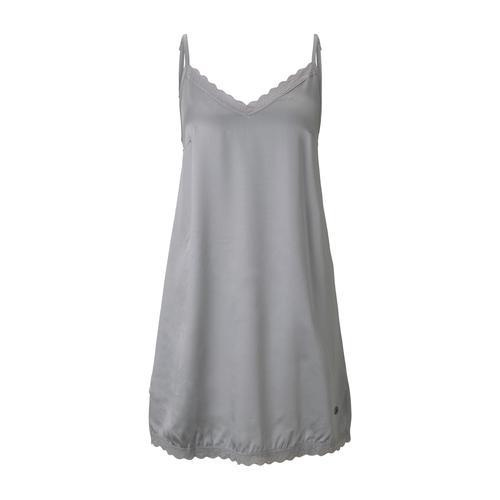 TOM TAILOR Damen Nachthemd mit Spitze, grau, Gr.36