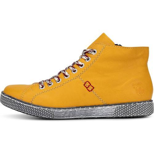 Rieker, Sneaker Da-Stiefel in gelb, Sneaker für Damen Gr. 42