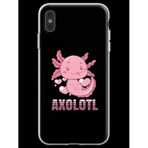 Axolotl Lurch Terrarium Aquarium Lurch Amphibie Flexible Hülle für iPhone XS Max