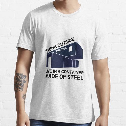 Versandcontainer Häuser - Selbstbau - DIY Häuser - Off Grid - Passivhaus Essential T-Shirt