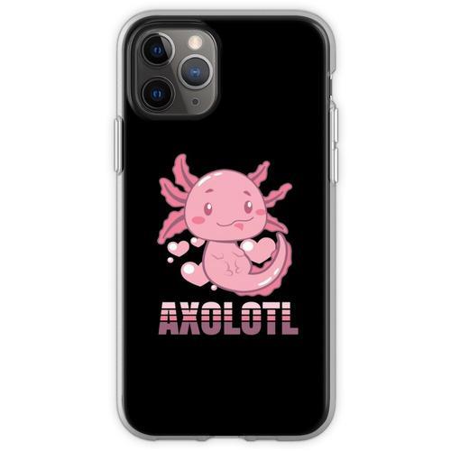 Axolotl Lurch Terrarium Aquarium Lurch Amphibie Flexible Hülle für iPhone 11 Pro