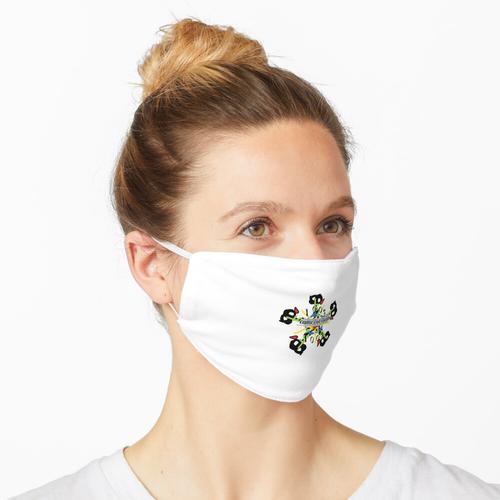 Es geht in den Abfluss Maske