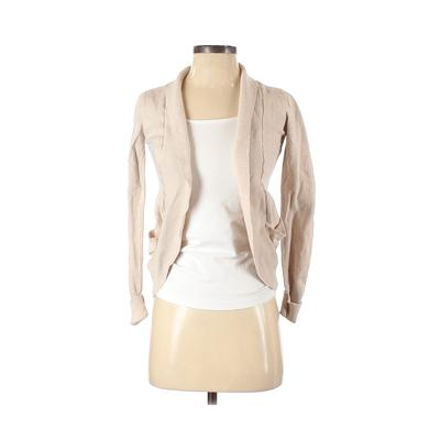 Lovely Girl Cardigan Sweater: Tan Solid Sweaters & Sweatshirts - Size Small