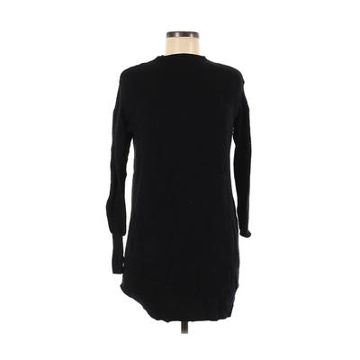 BCBGeneration - BCBGeneration Casual Dress - Sweater Dress: Black Solid Dresses - Used - Size Small