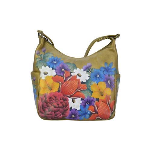 Hobo Dreamy Floral (handbemaltes Leder) ANUSCHKA bunt