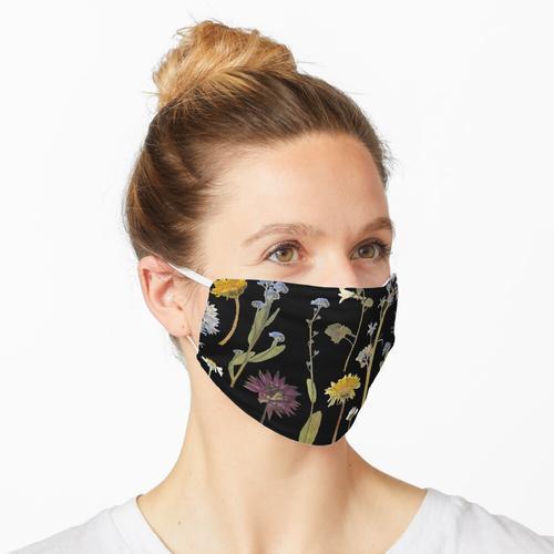 Getrocknete Blumen Maske
