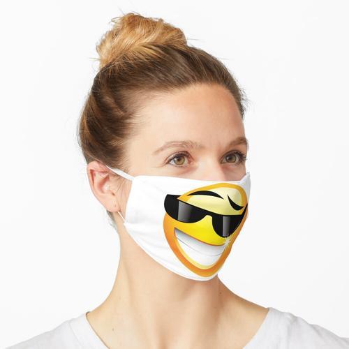 Sonnenbrille Emoji Maske