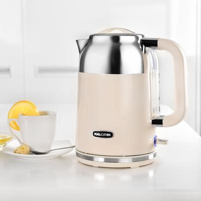 Kalorik 1.7 Liter Retro Electric Kettle by Kalorik in Cream