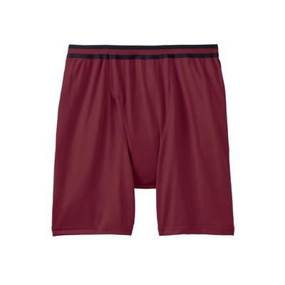 Men's Big & Tall Performance Flex Cycle Briefs by KingSize in Burgundy (Size 3XL)