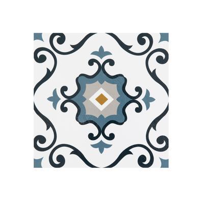 """Retro 12"""" x 12"""" Self Adhesive Vinyl Floor Tile - 20 Tiles/20 sq. ft. by Achim Home Dcor in Slate"""