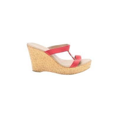 Italian Shoemakers Footwear - Italian Shoemakers Footwear Wedges: Red Solid Shoes - Size 10