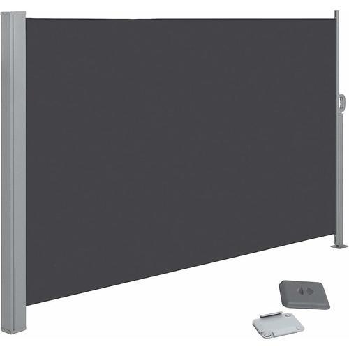 Songmics - Seitenmarkise, ausziehbar, 200 x 300 cm (H x L), Sichtschutz, Sonnenschutz, Seitenrollo,