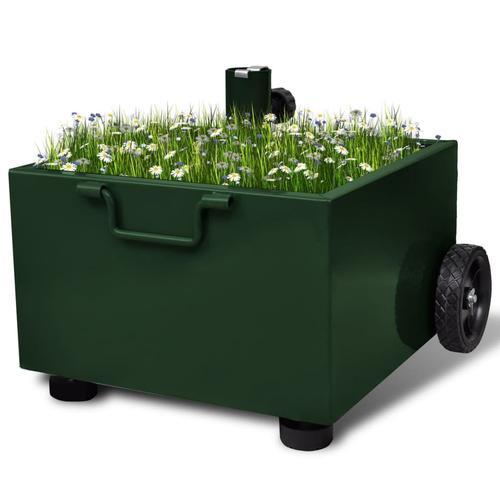 vidaXL Bepflanzbarer Sonnenschirmständer Blumentopf Grün