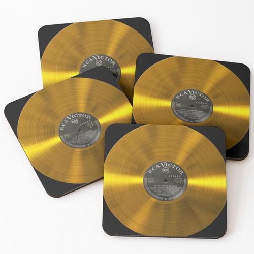 Gold Schallplatte Untersetzer