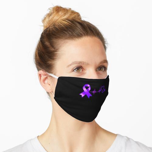 Heartbeat Opioid Ribbon Opioid-Überdosis-Bewusstsein Maske