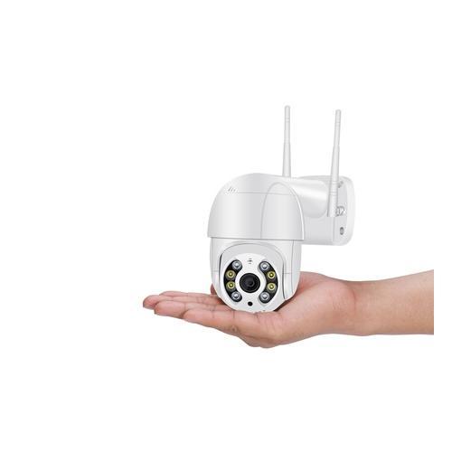 3 MP Überwachungskamera: 2 / schwarz / mit 2x 64 GB SD-Karte