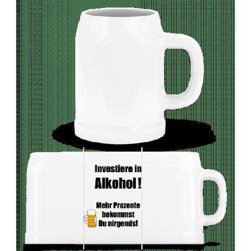 Investiere In Alkohol! - Bierkrug