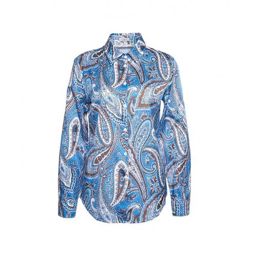 Himons Damen Bluse mit Paisley-Print Blau