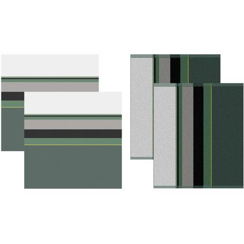 DDDDD Geschirrtuch Rico, (Set, 4 tlg., Combi-Set: bestehend aus 2x Küchentuch + Geschirrtuch) grün Geschirrtücher Küchenhelfer Haushaltswaren
