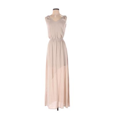 Show Me Your Mumu Casual Dress - Maxi: Tan Solid Dresses - Used - Size Small