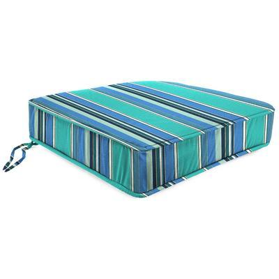 Outdoor Boxed Edge Deep Seat Cushion- Sunbrella DOLCE STR OASIS ACR GLEN RAVEN - Jordan Manufacturing 9744PK1-594H