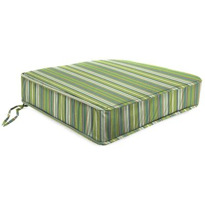 Outdoor Boxed Edge Deep Seat Cushion- Sunbrella FOSTER SURFSIDE RAVEN - Jordan Manufacturing 9744PK1-1675L