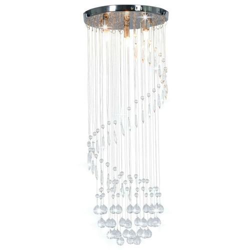 Deckenleuchte mit Kristallperlen Silbern Spirale G9 23174 - Topdeal