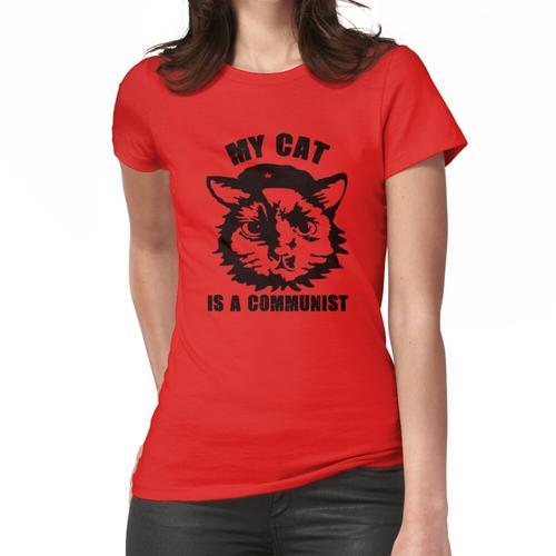 Meine Katze ist eine kommunistische lustige kommunistische Katze Frauen T-Shirt