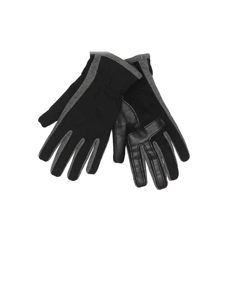 Totes Isotoner Gloves: Black Solid Accessories - Size Medium