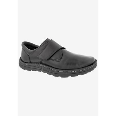 Men's WATSON Casual Shoes by Drew in Black Stretch Leather (Size 12 D)