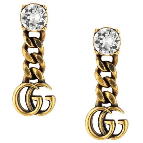 Gucci Ohrringe mit GG und Kristallen