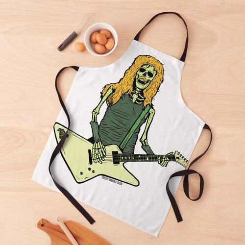 Skelett James Hetfield Metallica spielt Gitarre Schürze