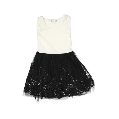 Knit Works Special Occasion Dress - Fit & Flare: Black Solid Skirts & Dresses - Used - Size 7