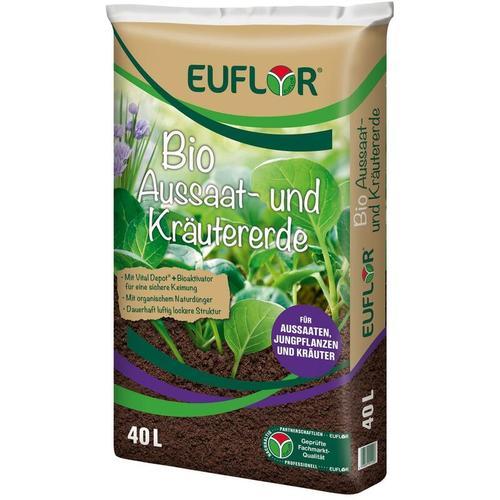 BIO Aussaat- und Kräutererde mit organischem Dünger, 40 Liter - Euflor