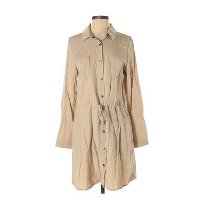 Dear John - Dear John Casual Dress - Shirtdress: Tan Solid Dresses - Used - Size Medium