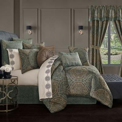Dorset Comforter Set Teal, California King, Teal