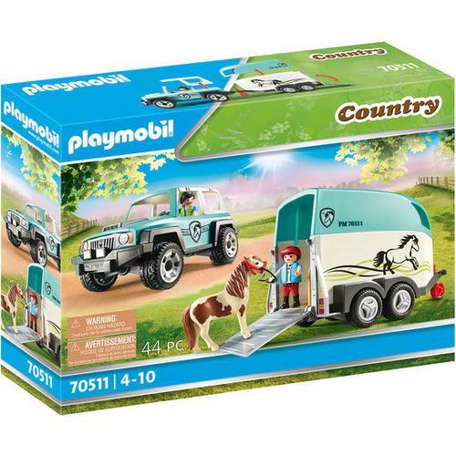 PLAYMOBIL® Country 70511 PKW mit Ponyanhänger, bunt