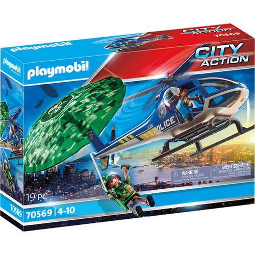 PLAYMOBIL®City Action Polizei-Hubschrauber: Fallschirm-Verfo, bunt