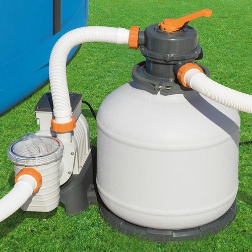 Bestway Flowclear Sandfilteranlage Sandfilter Filteranlage Filterpumpe mit Zeitschaltuhr 5.678 l/h