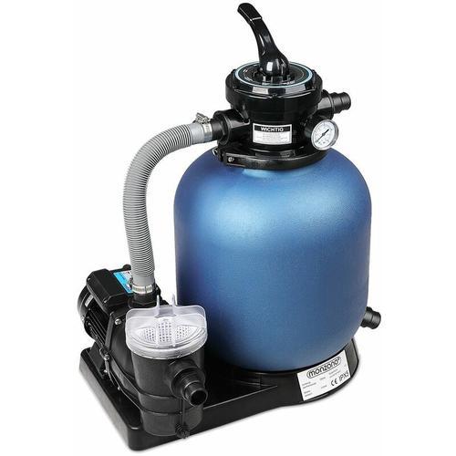 Monzana Sandfilteranlage mit Vorfilter XXL Tank 11 m³ Filteranlage Pool Sandfilter