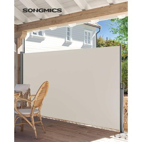Seitenmarkise, ausziehbar, 200 x 400 cm (H x L), Sichtschutz, Sonnenschutz, Seitenrollo, für