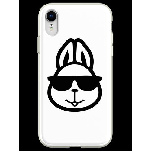 Hase mit Brille - Hase mit Brille lustig - Hase mit Brille Design - Has Flexible Hülle für iPhone XR