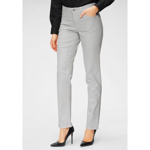 MAC Stretch-Jeans Melanie, Gerade geschnitten grau Damen High-Waist-Jeans Jeans