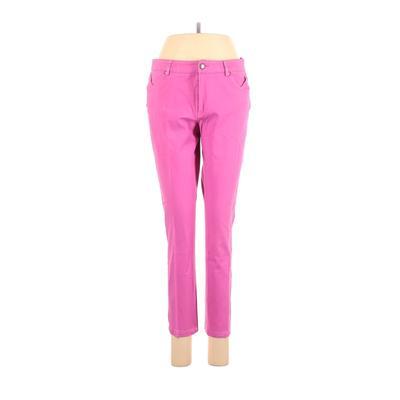 Woman Jeans - Mid/Reg Rise: Pink Bottoms - Size 6