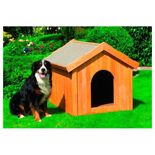 promadino Hundehütte, in versch. Größen beige Hundehütten Zwinger Hund Tierbedarf Hundehütte